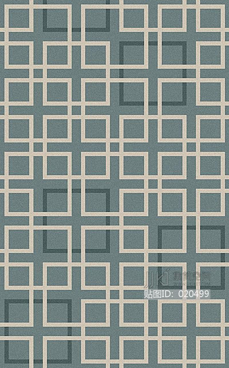 新中式花纹暗纹方块毯 (61)[贴图id:020499]