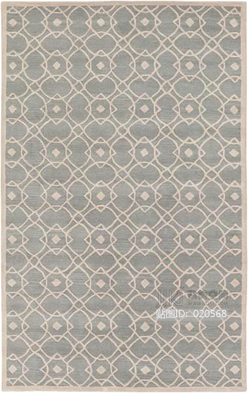 新中式花纹暗纹方块毯 (122)[贴图id:020568]