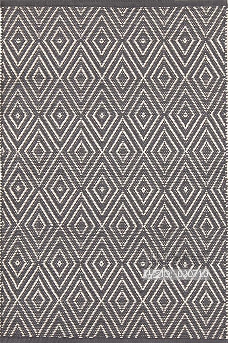 新中式花纹暗纹方块毯 (18)[模型id:020710]
