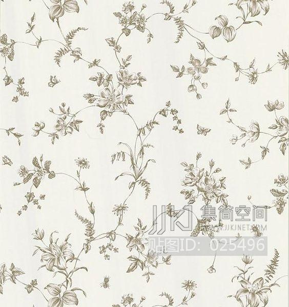 欧式田园乡村碎花大花纹理壁纸布料 (212)