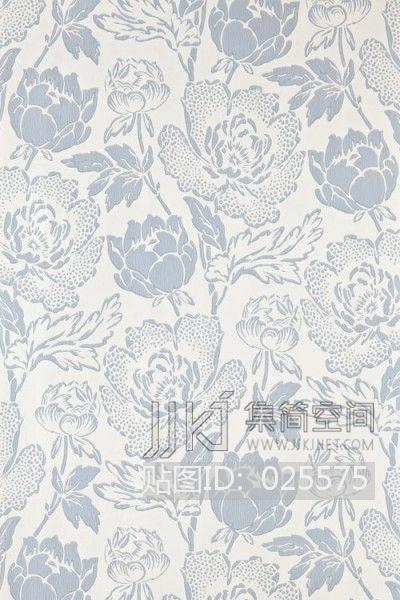 欧式田园乡村碎花大花纹理壁纸布料 (230)