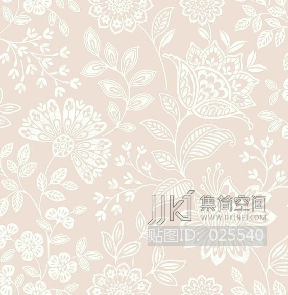 田园风格 欧式田园乡村碎花大花纹理壁纸布料 (269)[贴图id:025540]