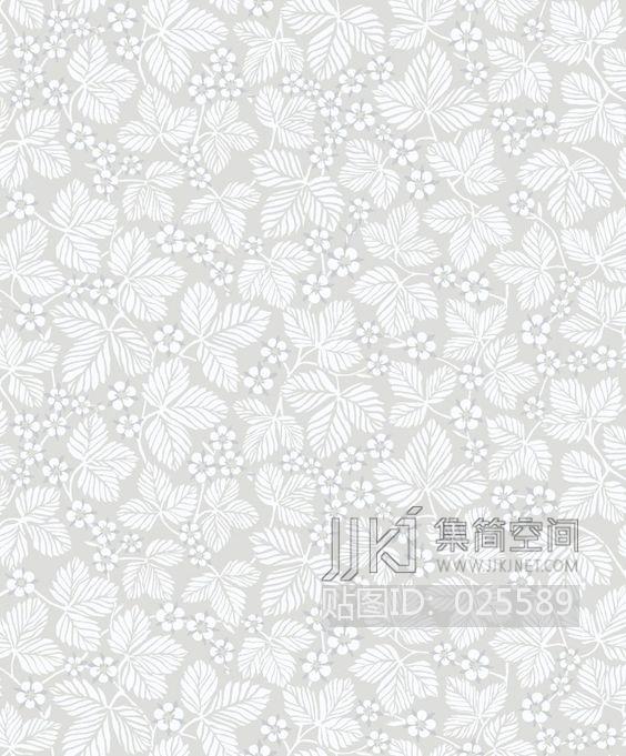 田园风格 欧式田园乡村碎花大花纹理壁纸布料 (295)[贴图id:025589]