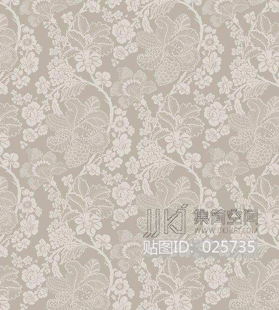 田园风格 欧式田园乡村碎花大花纹理壁纸布料 (303)[贴图id:025735]