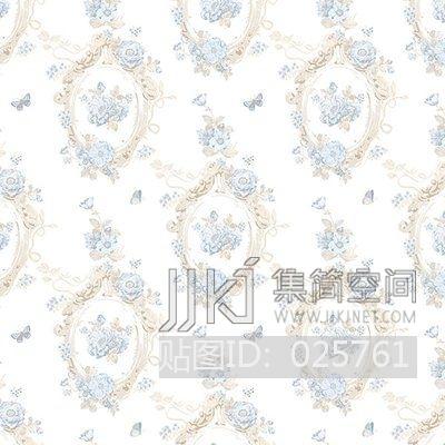 欧式田园乡村碎花大花纹理壁纸布料 (368)