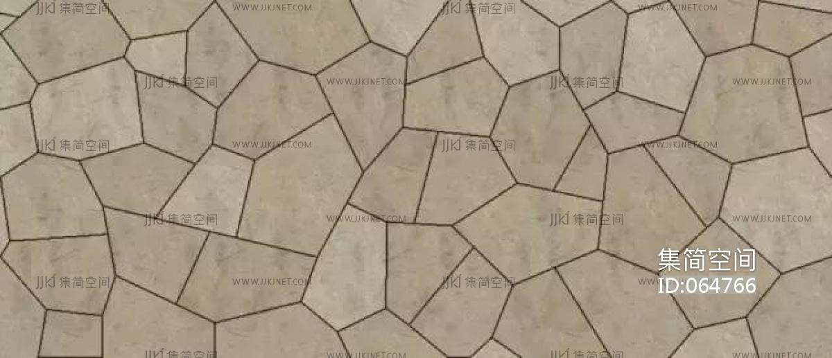 室外地面铺砖贴图_中式青石板文化石地面地铺 (3)-【集简空间】3d模型_su模型_贴图 ...